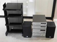 "Yamaha High End Stereo separates & Black glass ""Sound Organisation"" unit"