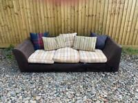 FREE DELIVERY - Two seater fabric sofa
