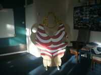 LARGE WOODEN LADY CUT OUT