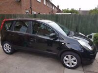 Nissan Note Acenta 1.4 Petrol 5 Door 2007/2008 Black Manual Car