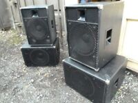 1000W PA SPEAKERS B&C BEYMA AND FANE LOADED