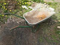 Old metal wheelbarrow