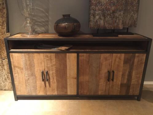 Stoer industri le landelijk dressoir oud teak kasten for Marktplaats meubels