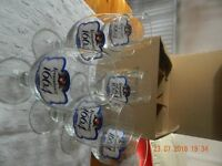 6 half pint Kronenbourg Glasses