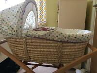 Mamas and Papas Moses Basket- excellent condition
