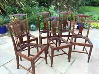 Victorian / Edwardian set of six dining chairs