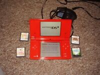 NINTENDO DSI WITH GAMES MINT CONDITION