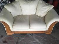 2 two seaters leather sofas