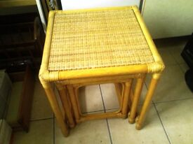 Oak Coffee tables with nest of 3 tables