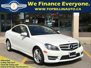 2013 Mercedes-Benz C-Class 250, SUNROOF, 1 OWNER, 64K kms