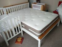 King Size Bed, with Extra Firm Mattress, great condition