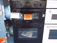 EX-DISPLAY BLACK HOTPOINT INTEGRATED DOUBLE OVEN W/DOUBLE GRILL (12 month warranty) REF: 11524