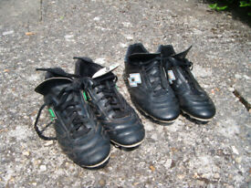 Two pairs football boots - mens size 11