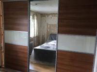 Sliding Wardrobes Door Kit 2.7 Meter Run Good Condition With Mirror Door