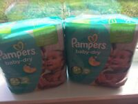 Pampers 12 packs