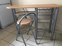 Kitchen bar table and chairs