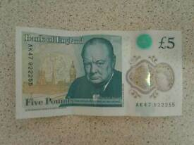 Ak47 £5 note for sale