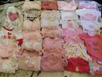 Baby girls large bundle clothing