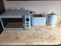 Microwave, kettle and toaster - microwave £50, toaster £20 and kettle £20