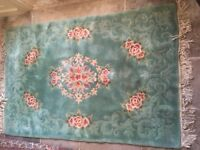Lovely green Chinese all wool rug