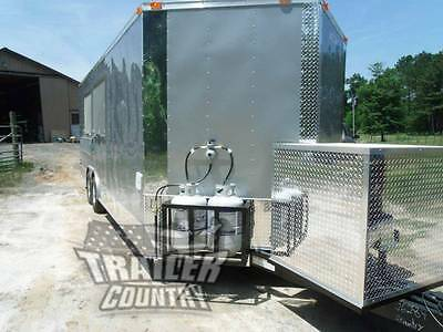 New 8.5 X 22 22 Enclosed Concession Food Vending Bbq Mobile Kitchen Trailer