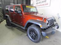 2014 Jeep Wrangler Unlimited Edition Willis 2 TOITS !!