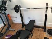 Weights Bench and 105kg