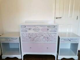 Bedroom drawers and bedsides