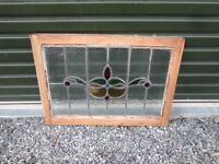 Salvaged Victorian Leaded Stained Glass Window