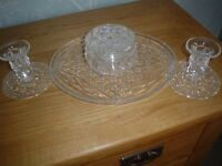 VINTAGE CRYSTAL DRESSINGTABLE SET PERFECT CONDITION
