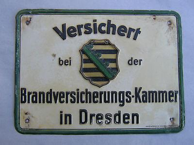 Brandvevrsicherungskammer Dresden Blechschild