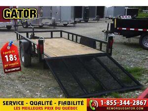 2016 Gator UTILITAIRE  TRAILER UTILITY  GATOR 61X9 2K -
