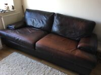 2 x leather sofas. Collection only