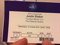 Justin Bieber - VIP Front of Stage 4th Row - 12 October The O2 London