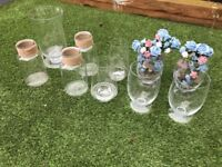 Variety of Glass Vases/Candle Holders