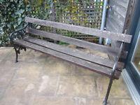 Vintage Garden Bench - Ornate Metalwork