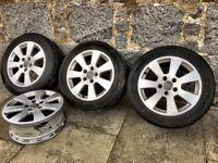 """Audi A3 2005 Alloys 16"""" (4 Alloys, 3 tyres)"""