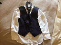 Boys shirt, waistcoat & tie Age 6-7