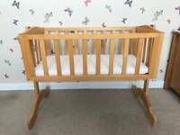 Saplings Bethany Swinging Crib (Natural)