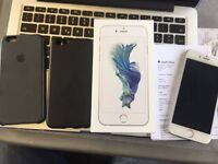 iPhone 6s 128GB Silver 1year old, Apple Care+ insurance