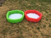 Small paddling pools