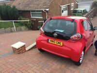 Red Toyota aygo, 3 door hatchback, Excellent condition, long mot
