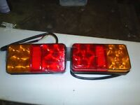 PAIR OF OBLONG LED REAR LIGHTS FOR TRAILER OR TRUCK NEW IN BOX