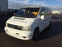 LEFT HAND DRIVE MERCEDES BENZ VITO, DRIVES WELL,GOOD LOAD SPACE,ENGINE & M