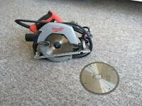 Circular saw with spare blade