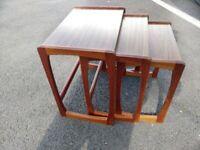 Small G Plan Style Nest of Tables Vintage Retro MCM Mid Century Modern teak