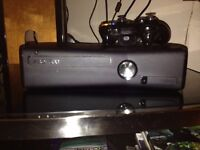 Xbox 360 250gb with kinect and 12 games