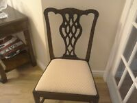 Edwardian reproduction Chippendale style chair