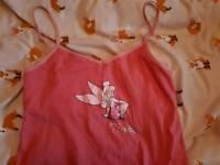 Pink Tinkerbell pyjama/vest top