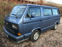 Volkswagen Multivan Turbo Diesel LEFT HAND DRIVE Manual 7 Seat / Motor caravan X Reg 16/10/1981 Blue